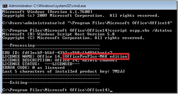 How to check the activation status type of microsoft - Product activation required office 2010 ...