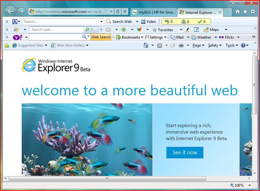 Get Started With IE 9 on Windows Vista