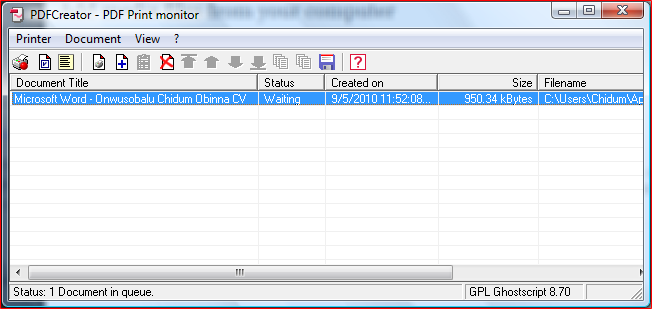 how to create pdf windows
