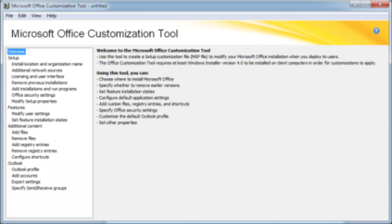 Microsoft office customization tool oct and deployment options for office 2010 windows info - Office customization tool ...