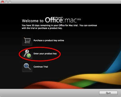 office 2011 for mac have product key