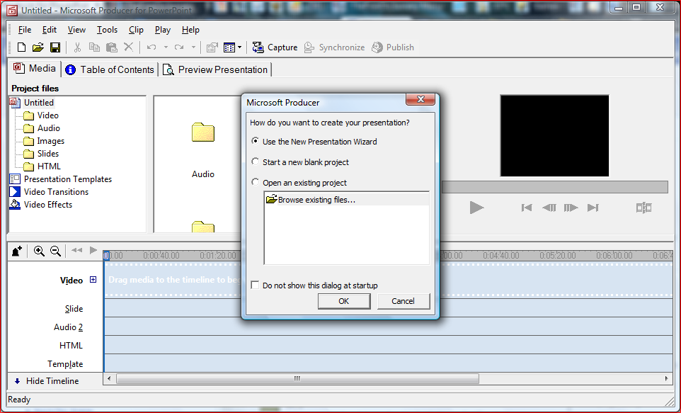 Synchronize powerpoint presentations with video