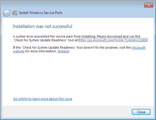 system update readiness tool in windows 7