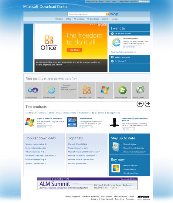 Microsoft Download Center gets the Metro UI! | Windows Info Portal