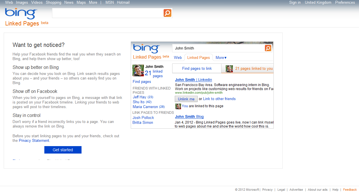 Microsoft Bing Introduces 'Linked Pages'